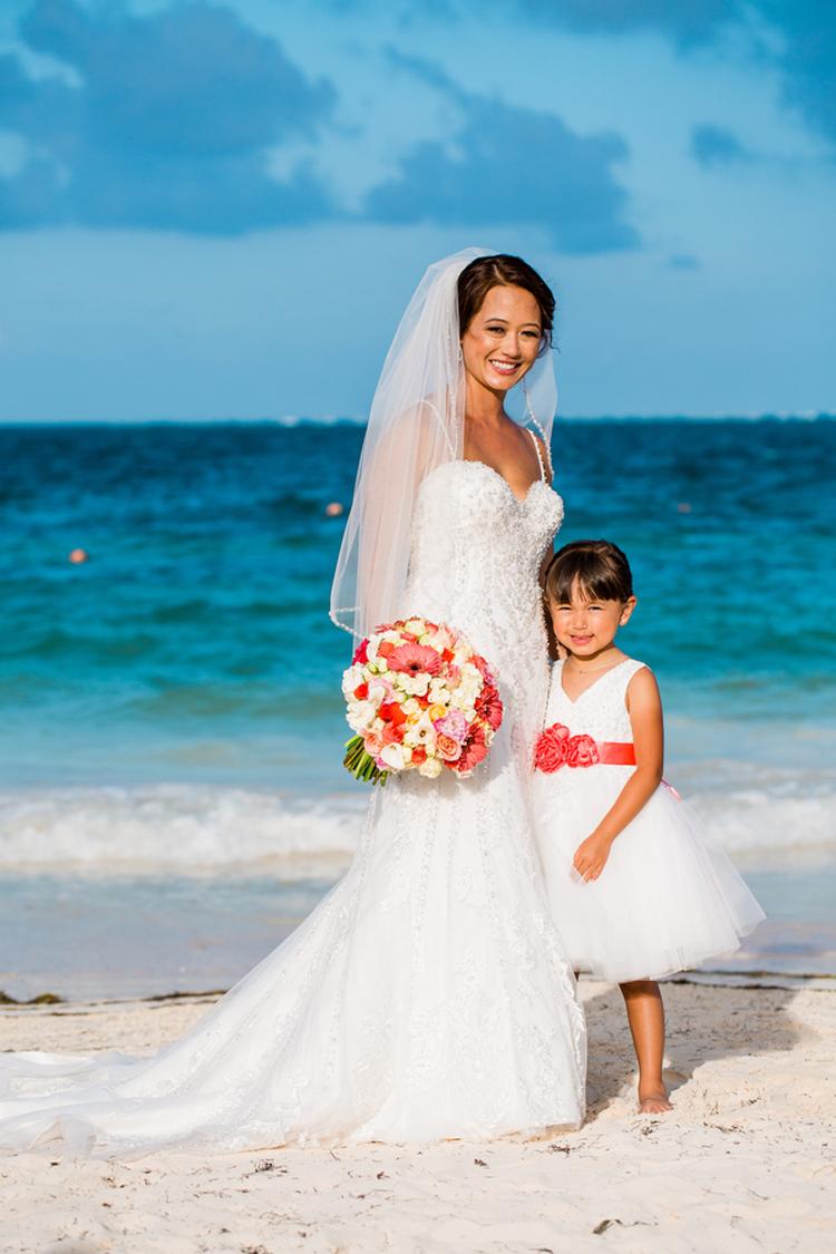 Beachy Destination Wedding at Now Sapphire Riviera Cancun - MHW